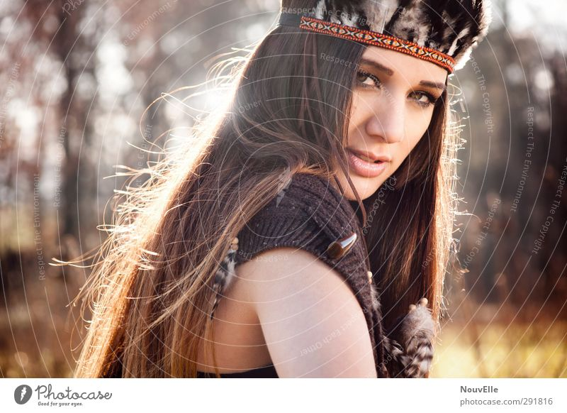 Human being Nature Youth (Young adults) Forest Adults Young woman Life Autumn Feminine Emotions Hair and hairstyles 18 - 30 years Fashion Beautiful weather