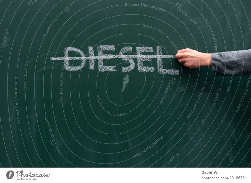 diesel ban Science & Research School Study Blackboard Human being Life Hand Fingers Art Environment Air Climate Climate change Transport Means of transport