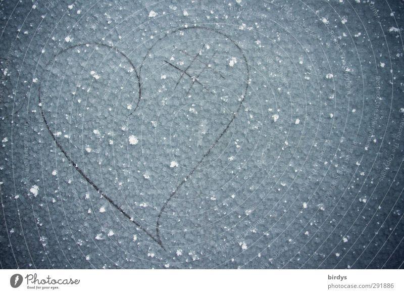 Beautiful Winter Love Cold Happy Metal Ice Heart Esthetic Frost Simple Uniqueness Sign Creativity Joie de vivre (Vitality) Infatuation