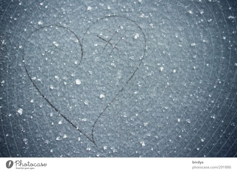Cold heart Winter Ice Frost Metal Sign Heart Esthetic Simple Uniqueness Original Beautiful Happy Love Infatuation Relationship Creativity