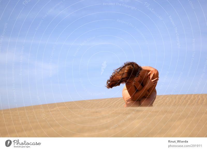Wind, sun, sky and hair Beautiful Hair and hairstyles Vacation & Travel Summer Summer vacation Sun Beach Human being Feminine Young woman Youth (Young adults)