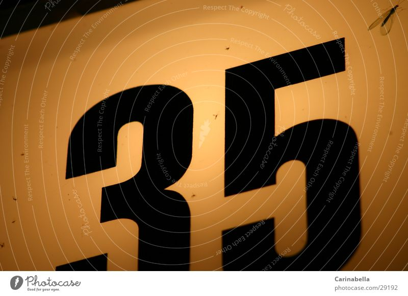 35 Lamp Digits and numbers House number Obscure house sign