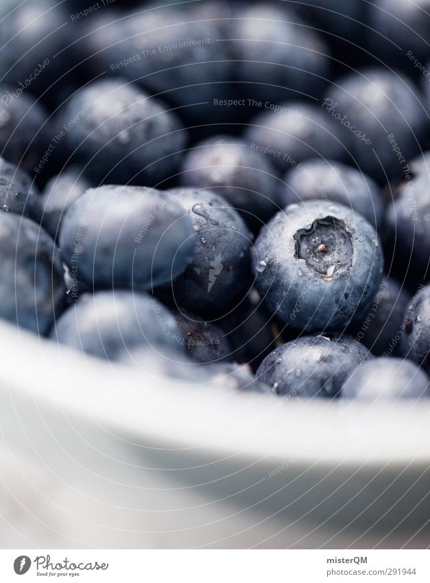 Bowl Blue Food Fruit Nutrition Breakfast Organic produce Vegetarian diet Diet Art Esthetic Blue-white Blueberry Blue tone Healthy Eating Delicious Many