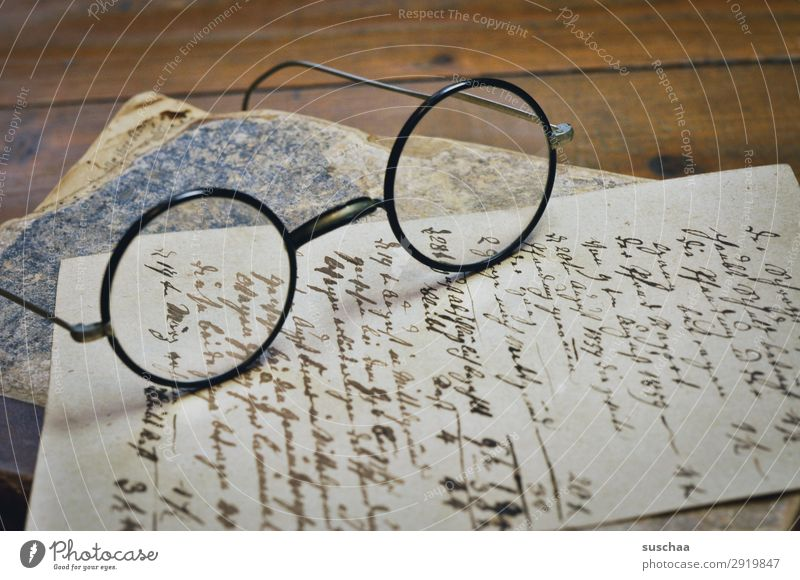 old handwritten document with glasses and old book Old Retro Vintage Letter (Mail) Write Text Paper Antique Handwriting Communication transient abatement