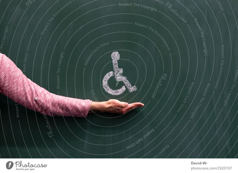 Wheelchair user symbol Man Human being wounded violation Sick on sick leave Breakdown Accident Healthy Pain Health care age inability to work hampered