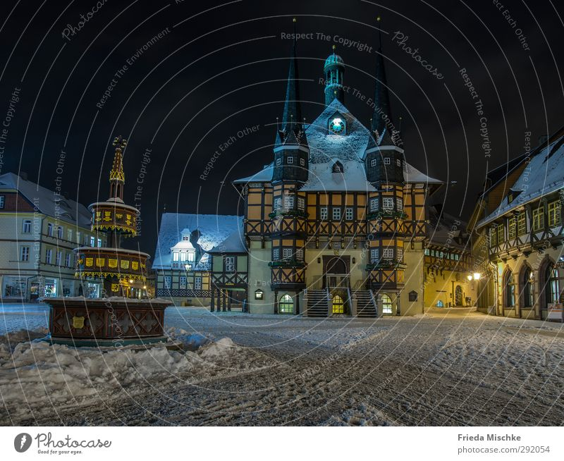 City Hall Wernigerode Downtown Old town House (Residential Structure) Marketplace City hall Architecture Tourist Attraction Landmark Historic Beautiful Tourism