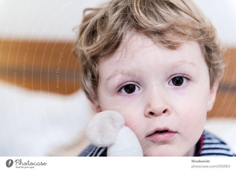 Human being Child Calm Face Eyes Boy (child) Infancy Blonde Mouth Cute T-shirt Friendliness Curiosity Toddler Curl Fatigue
