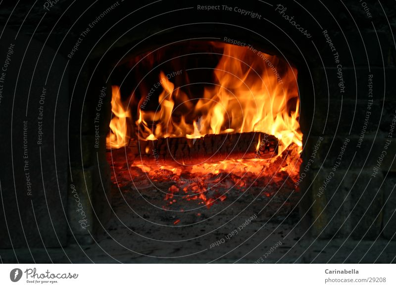 pizza oven Burn Wood Embers Kitchen Blaze stone oven Flame