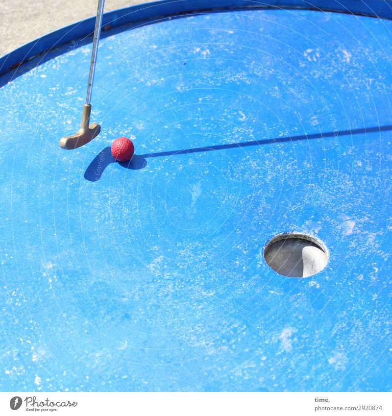 Applied mathematics | Thought games Sports Ball sports Golf Mini golf Mini golfclub Racecourse Golf course Line Sphere To hold on Blue Red Silver Patient Life