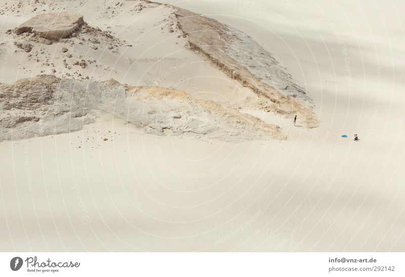 desert Human being Feminine Young woman Youth (Young adults) 2 Environment Nature Landscape Elements Earth Sand Hill Rock Beach Desert Climate New Zealand