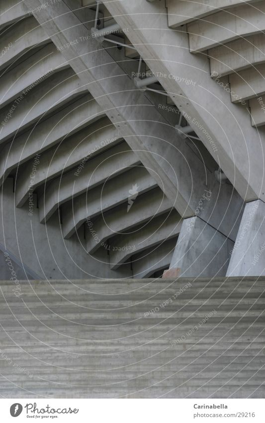 Concreted Gray Entrance Architecture Stairs sports stadium Wankdorf Canton Bern