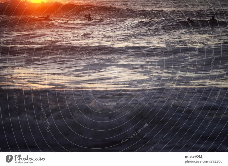 To the Sun. Art Esthetic Surfing Romance Freedom Ocean Waves Closing time Athletic Sports Aquatics Exterior shot Hope Horizon Light heartedness