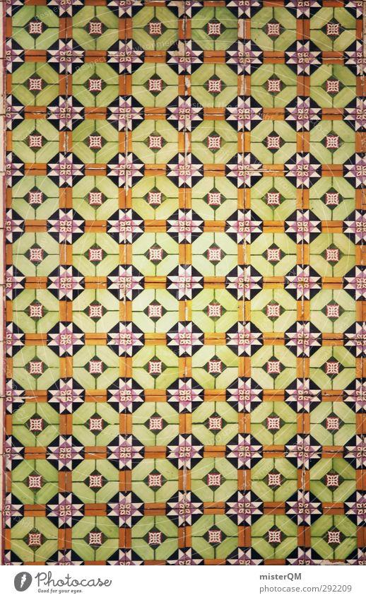 cross tiled. Art Esthetic Tile Pattern Symmetry Portugal Lisbon Many Green Colour photo Subdued colour Exterior shot Close-up Detail Macro (Extreme close-up)