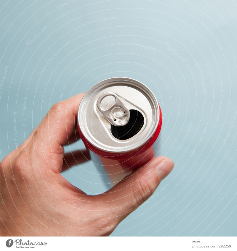 Blue Hand Environment Metal Open Design Empty Fingers Beverage To hold on Trash Silver Environmental protection Tin Grasp Thirst