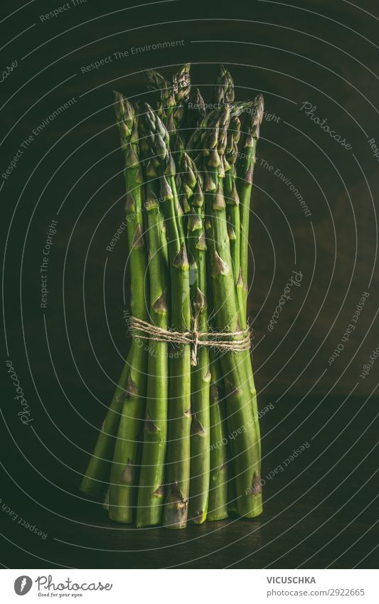 Green asparagus bunches Food Vegetable Nutrition Organic produce Vegetarian diet Diet Design Healthy Healthy Eating Style Asparagus Asparagus season