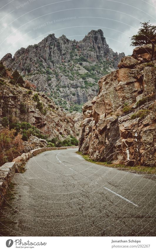 on to the mountains Environment Nature Landscape Clouds Bad weather Rock Mountain Esthetic Lunar landscape End Apocalypse Street Empty Winding road Stone