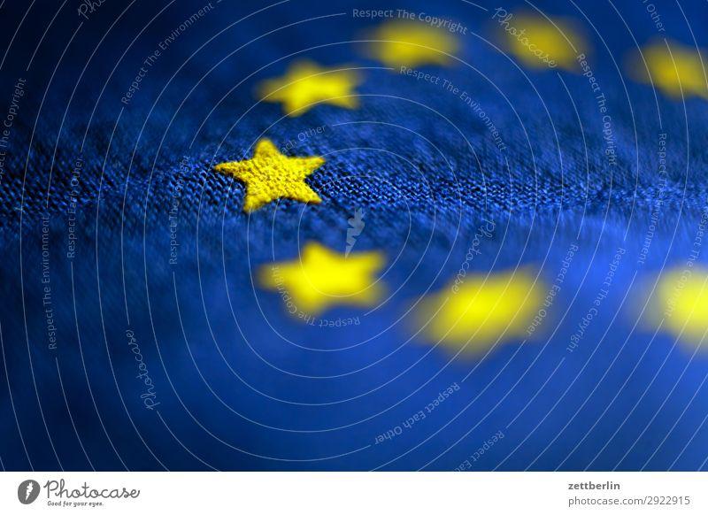 Pulse of Europe Cotton Blue Design European flag Flag Wrinkles Yellow Cloth Gold Circle Star (Symbol) Symbols and metaphors Textiles Landmark exit brexite