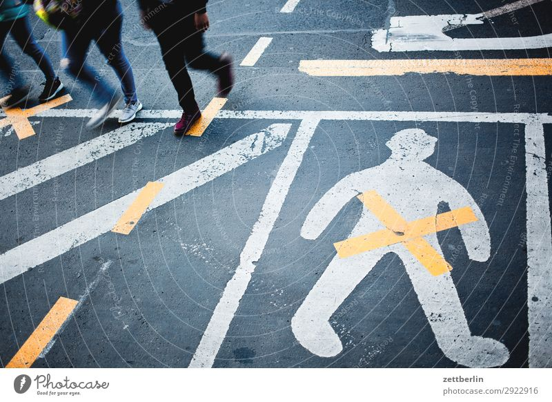 orientation Human being Multiple Group Legs Walking Turn off Asphalt Corner Lane markings gender gap Genitalia Gender Curve Line Man Signs and labeling