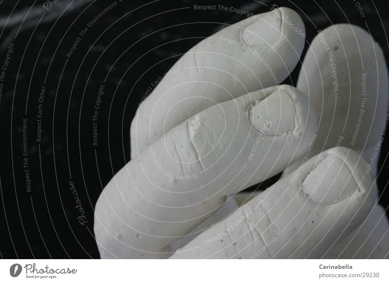 plaster hand Hand Fingers White Obscure Gypsum casting