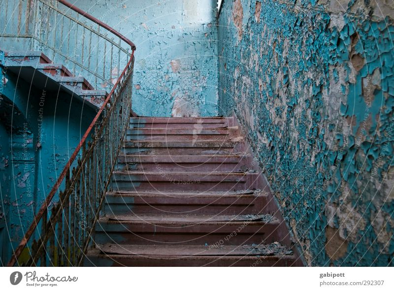 Old houses | Staircase Deserted House (Residential Structure) Ruin Building Architecture Wall (barrier) Wall (building) Stairs Facade Window Door Exceptional