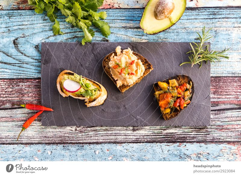 Summer Healthy Food Nutrition Fresh Vegetarian diet Bread Barbecue (event) Plate Dinner Vegan diet Wooden table Tomato Lunch Summery Banquet