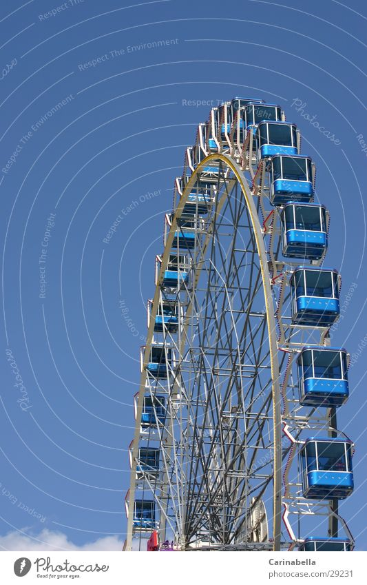 Blue Leisure and hobbies Ferris wheel Portrait format Driver's cab