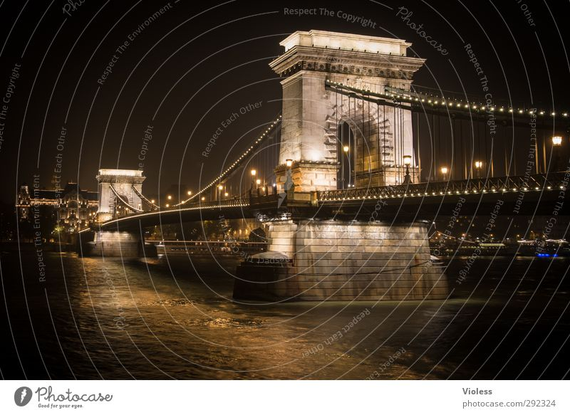 Old houses old isse but no house Port City Old town Bridge Manmade structures Architecture Tourist Attraction Landmark Monument Széchenyi Chain Bridge