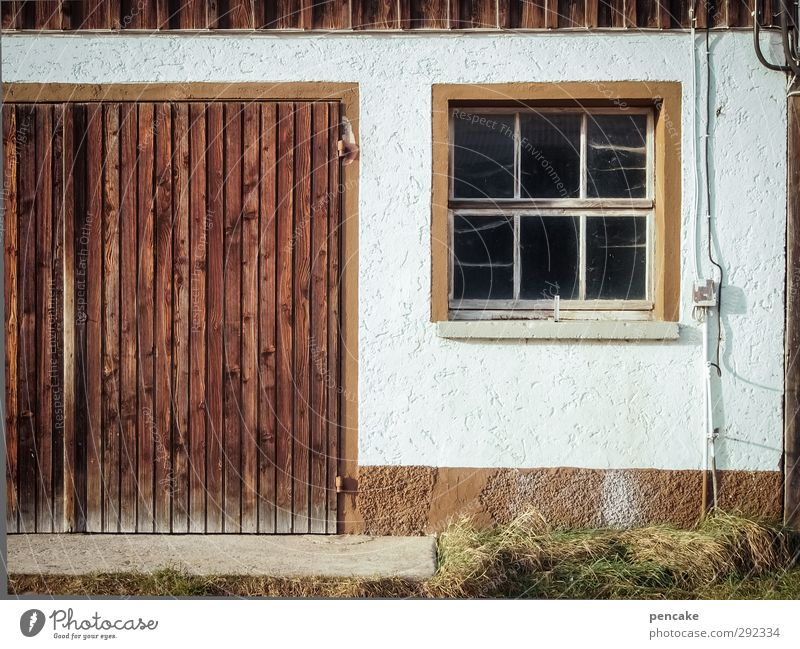 Old houses. Courtly. Village House (Residential Structure) Building Farm Barn Barn door Wall (barrier) Wall (building) Window Door Wood Work and employment