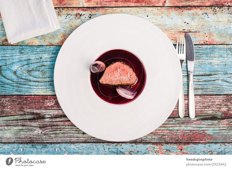Food Pink Nutrition Modern To enjoy Delicious Turquoise Plate Dinner Meat Lunch Banquet Classic Cutlery French Buffet