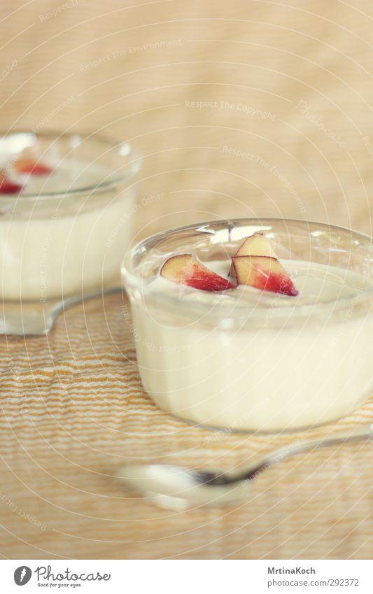 yoghurt. Food Yoghurt Dairy Products Fruit Dessert Candy Nectarine Nutrition Eating Vegetarian diet Diet Slow food Crockery Bowl Glass Spoon Joy Sweet