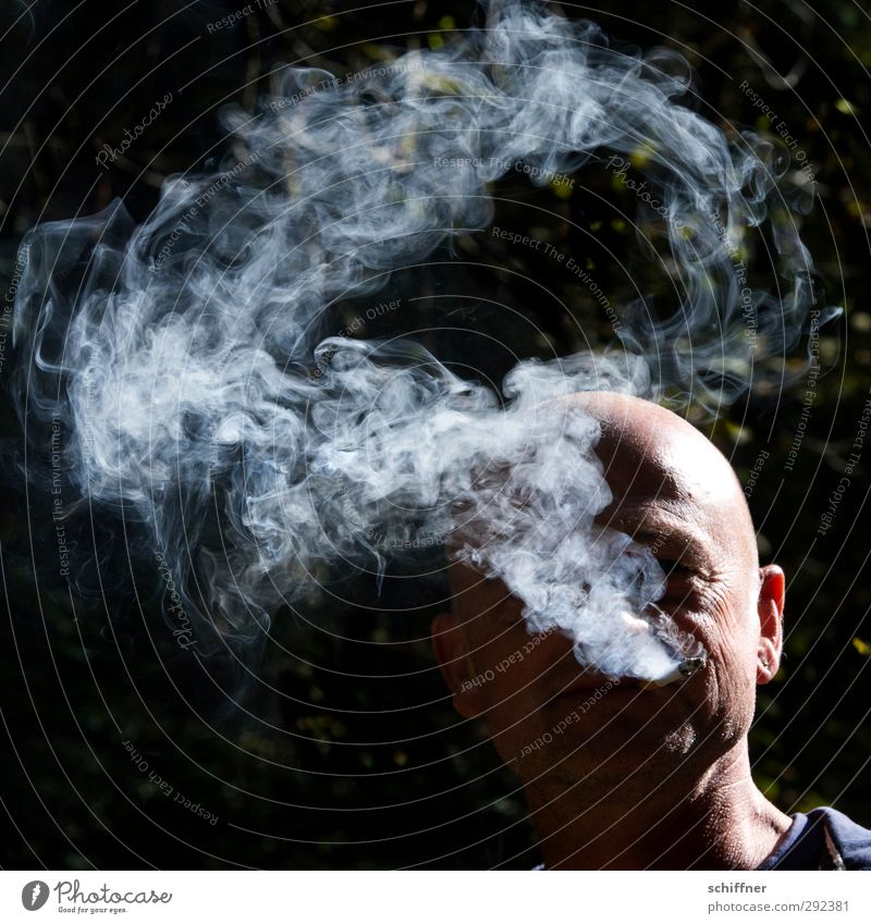 Human being Man Face Adults Head Friendship Masculine Authentic Cool (slang) Smoking Smoke Bald or shaved head Addiction 30 - 45 years Smoky No smoking