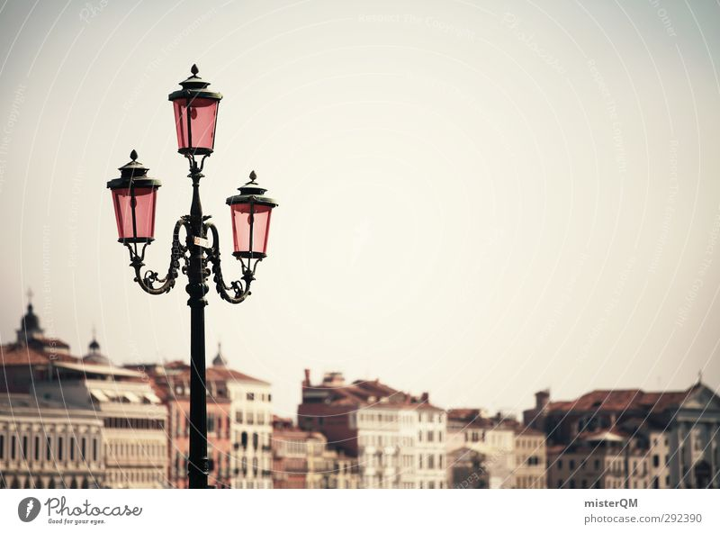 Three things. Art Esthetic Venice Lamp Wanderlust Tourism Old times Italy Vacation & Travel Vacation photo Pink City trip Travel photography Lantern