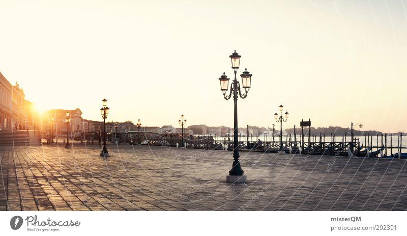 For breakfast in Italy. Art Esthetic Work of art Sunrise Lantern Venice Veneto Travel photography Tour guide Wanderlust Warmth Peaceful Idyll Promenade Sunlight
