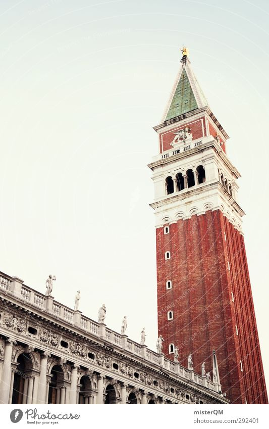 Vacation & Travel City Travel photography Art Tourism Esthetic Tall Italy Tower Past Manmade structures Landmark Brick Tourist Attraction Venice Vacation photo