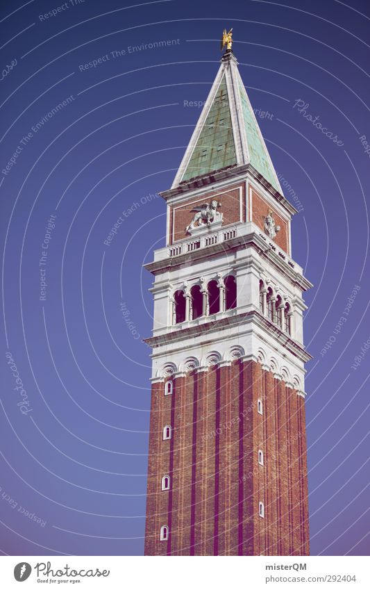 Vacation & Travel Art Esthetic Tower Italy Manmade structures Brick Landmark Tourist Attraction Venice Baroque Renaissance Veneto Vacation photo