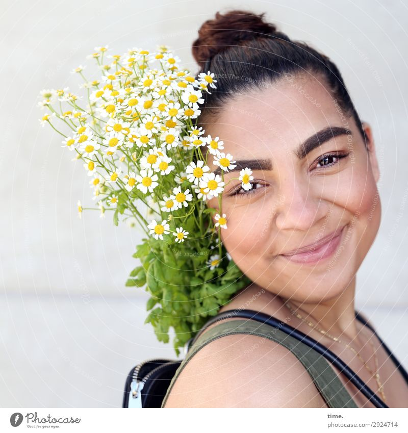 Woman Human being Plant Beautiful Leaf Joy Adults Life Blossom Feminine Moody Contentment Smiling Happiness Creativity Joie de vivre (Vitality)