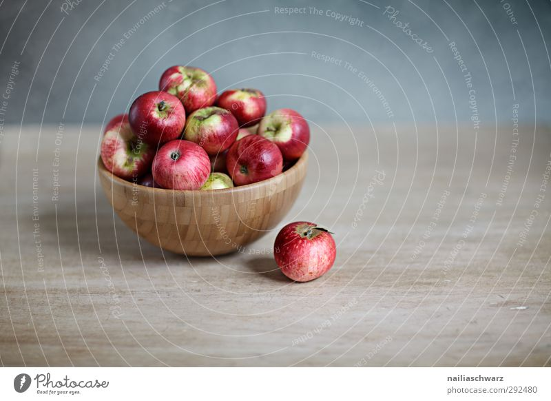 Still life with apples Food Fruit Apple Nutrition Organic produce Vegetarian diet Diet Bowl Wooden bowl Healthy Fragrance Fresh Beautiful Delicious Natural Sour