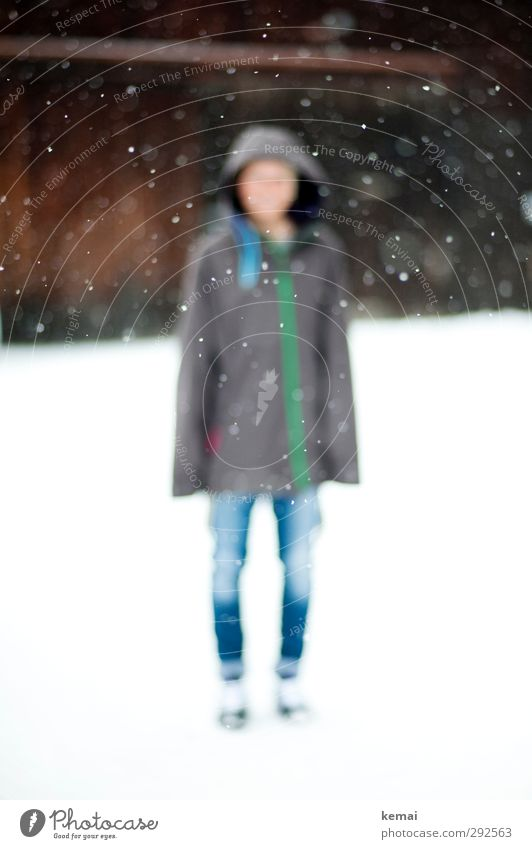Human being Youth (Young adults) Winter Young woman Adults Environment Snow Life Feminine 18 - 30 years Style Legs Bright Snowfall Ice Body