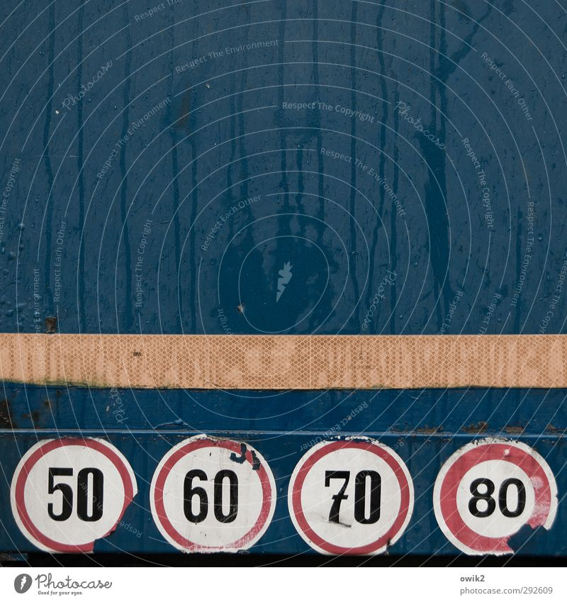 speedy gonzales Tin Metal Sign Digits and numbers Signs and labeling Speed limit Simple Wet Round Blue Red Black White Responsibility Attentive Watchfulness