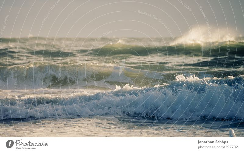 Vacation & Travel Summer Ocean Beach Far-off places Freedom Swimming & Bathing Horizon Waves Wind Island Beautiful weather Adventure Joie de vivre (Vitality)