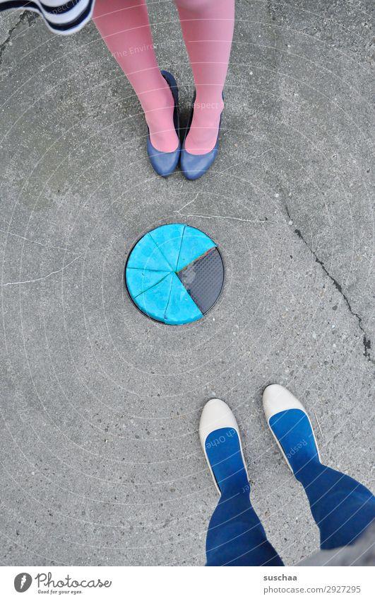Woman Blue Food Street Legs Feet Birthday Stand Baked goods Cake Dessert Asphalt Stockings Whimsical Strange Baking
