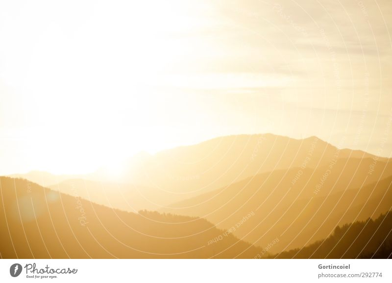 L'amour se lève comme le soleil *600* Nature Landscape Sun Sunrise Sunset Sunlight Winter Mountain Happiness Happy Bright Beautiful Yellow Gold Patch of light