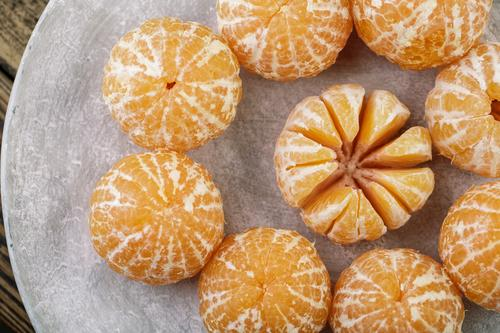 fresh clementine Food Fruit Tangerine Plate Bowl Healthy Eating Christmas & Advent Simple Fresh Delicious Natural Juicy Sweet Yellow Gray Orange Fragrance
