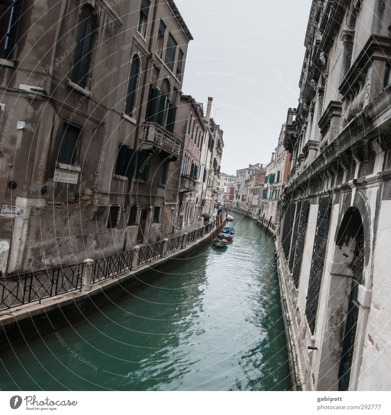 canalic Water Venice Port City Downtown House (Residential Structure) Facade Traffic infrastructure Watercraft Channel Gloomy Town Gray Tilt Waterway Turquoise