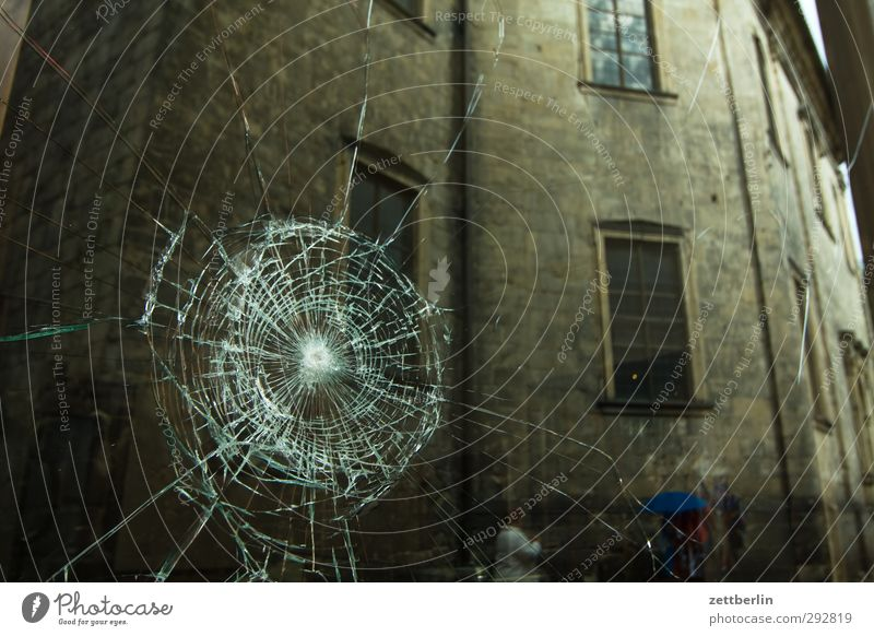 House (Residential Structure) Window Wall (building) Wall (barrier) Facade Glass Dangerous Broken Roof Anger Force Hollow Crack & Rip & Tear Downtown