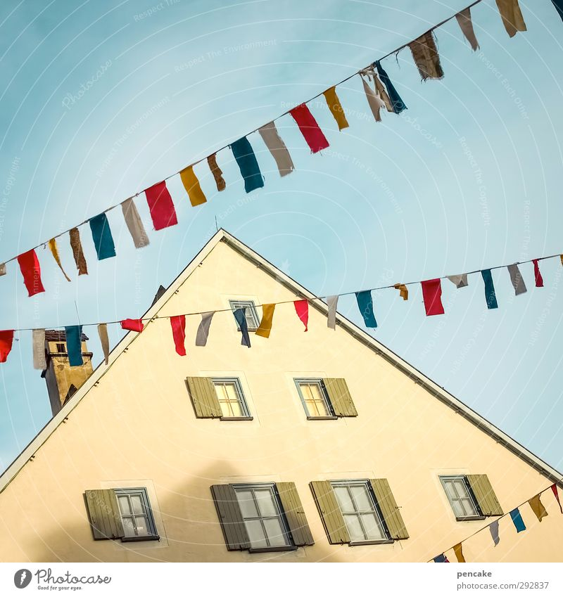 Joy Winter House (Residential Structure) Window Playing Feasts & Celebrations Party Moody Facade Dance Happiness Decoration Roof Sign Flag Carnival