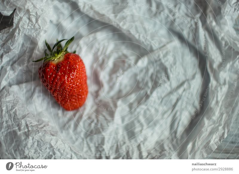 Fresh strawberry Strawberry Red Mature Single Simple simplified object background Food Organic fruit Tasty Healthy Organic produce Vitamin Sweet Delicious