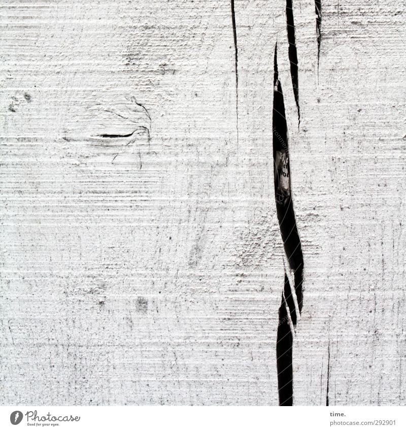 lair House (Residential Structure) Crack & Rip & Tear Wood grain Knothole Paper Wooden board Black White Sadness Design Accuracy Life Risk Calm Change