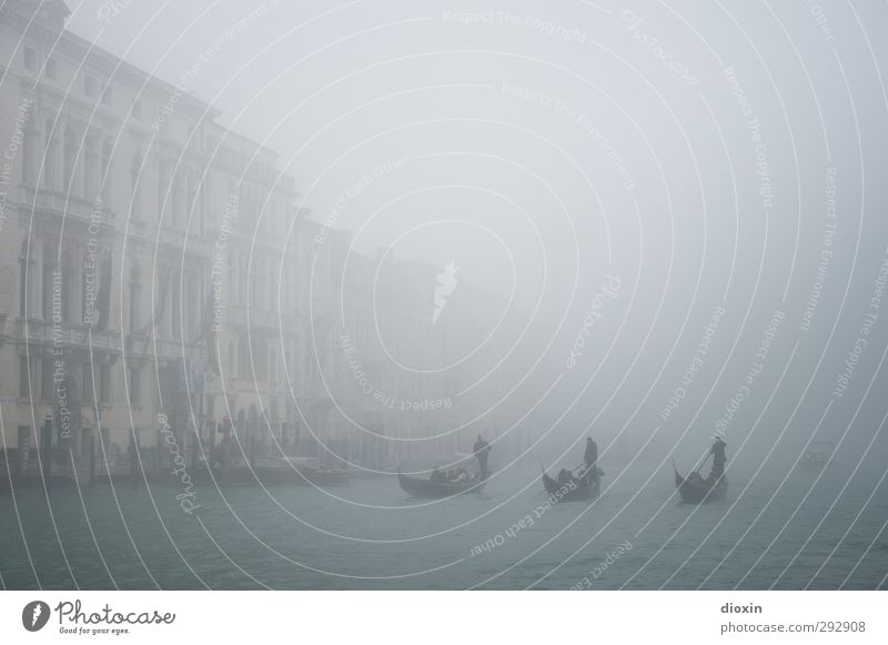 shadowy Vacation & Travel Tourism Sightseeing City trip Gondolier Water Weather Bad weather Fog Venice Italy Port City Downtown Old town