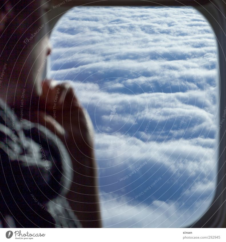 View into the sky - but from above! Vacation & Travel Tourism Far-off places Technology High-tech Energy industry Renewable energy Aviation 1 Human being